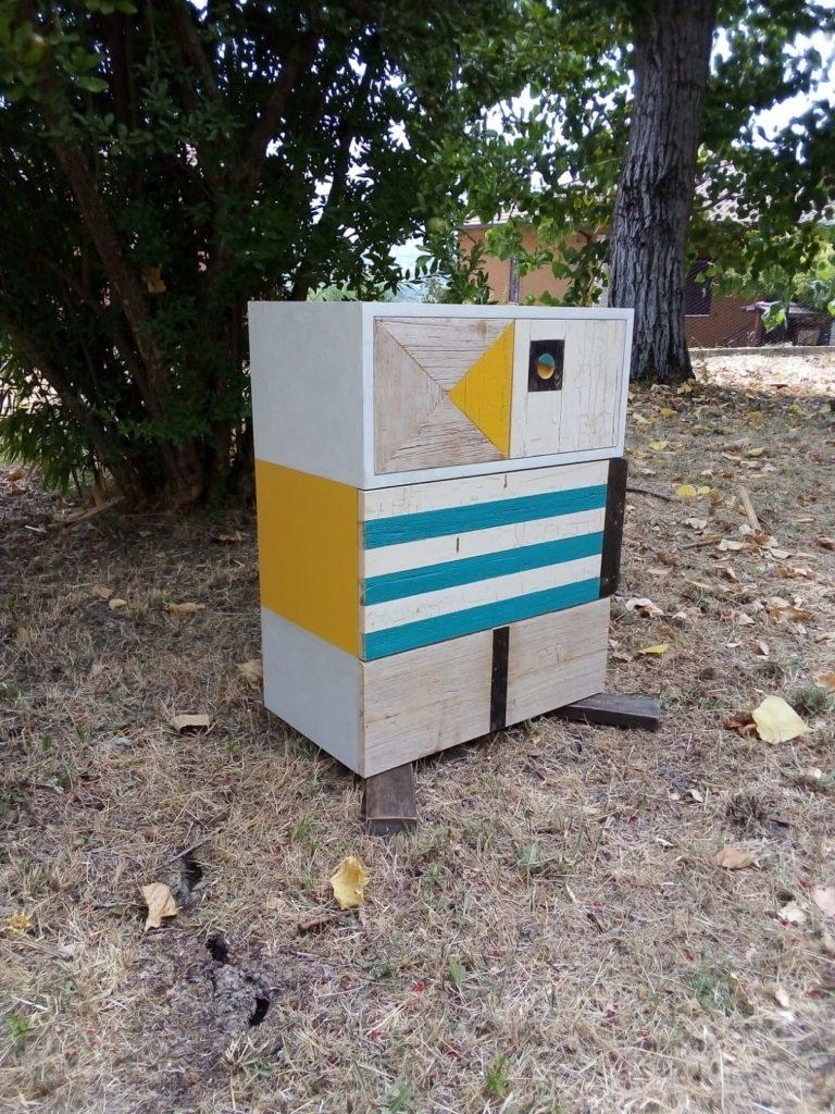 mobile contenitore comodino in legno di recupero design contemporaneo laquercia21