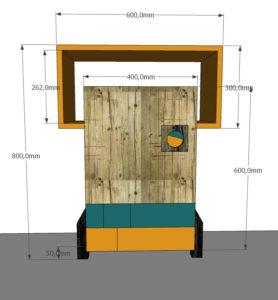 progetto 3d mobili su misura contemporanei laquercia21