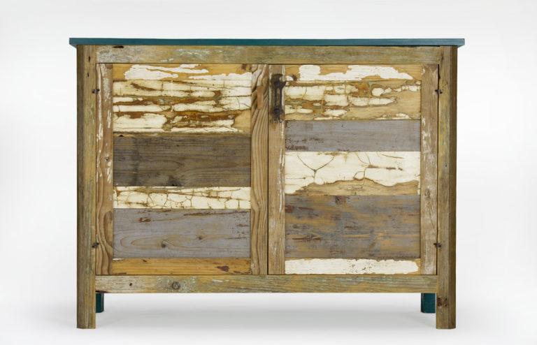 madia contemporanea moderna legno di recupero