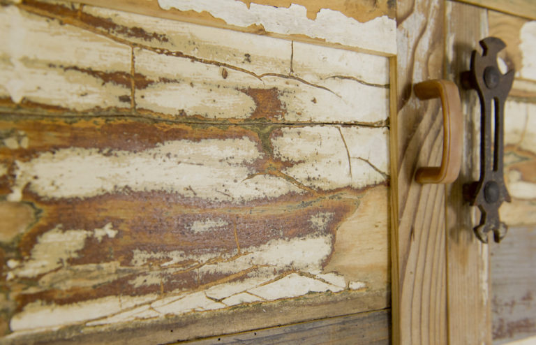 madia con ante in legno vintage contemporaneo