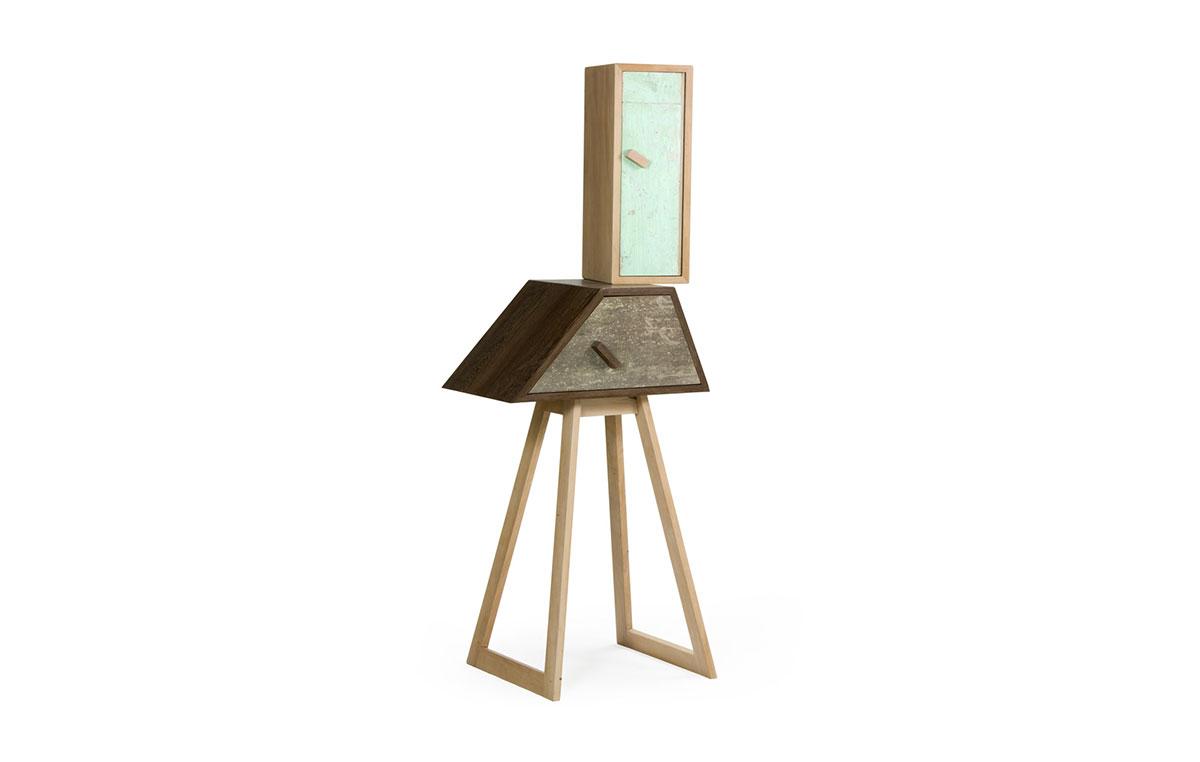 mobiletto alto con cassetto e anta legno