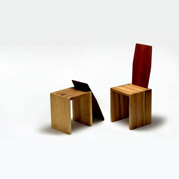 sedia mobile in legno massello design