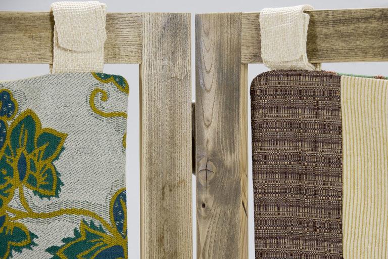 legno vintage per separe in stoffa vintage