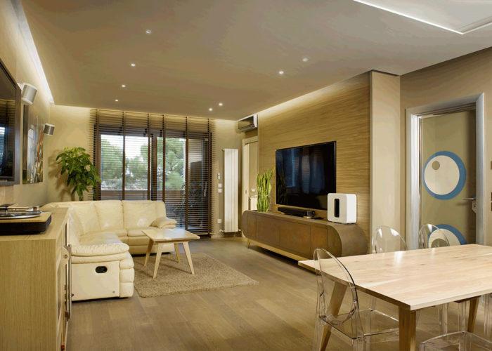 arredamento artigianale in legno contemporaneo soggiorno