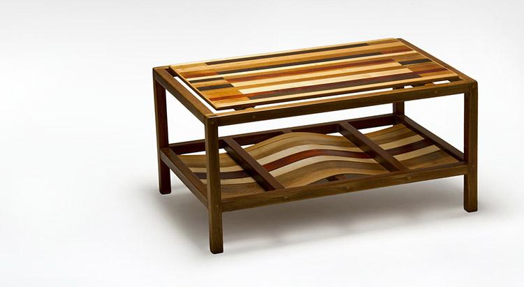 tavolino caffè rettangolare legno massello