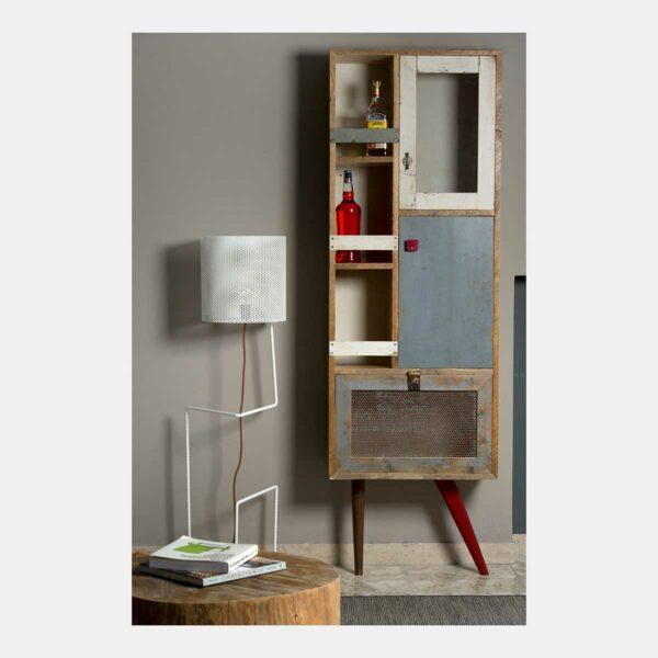 Credenza alta in legno di design