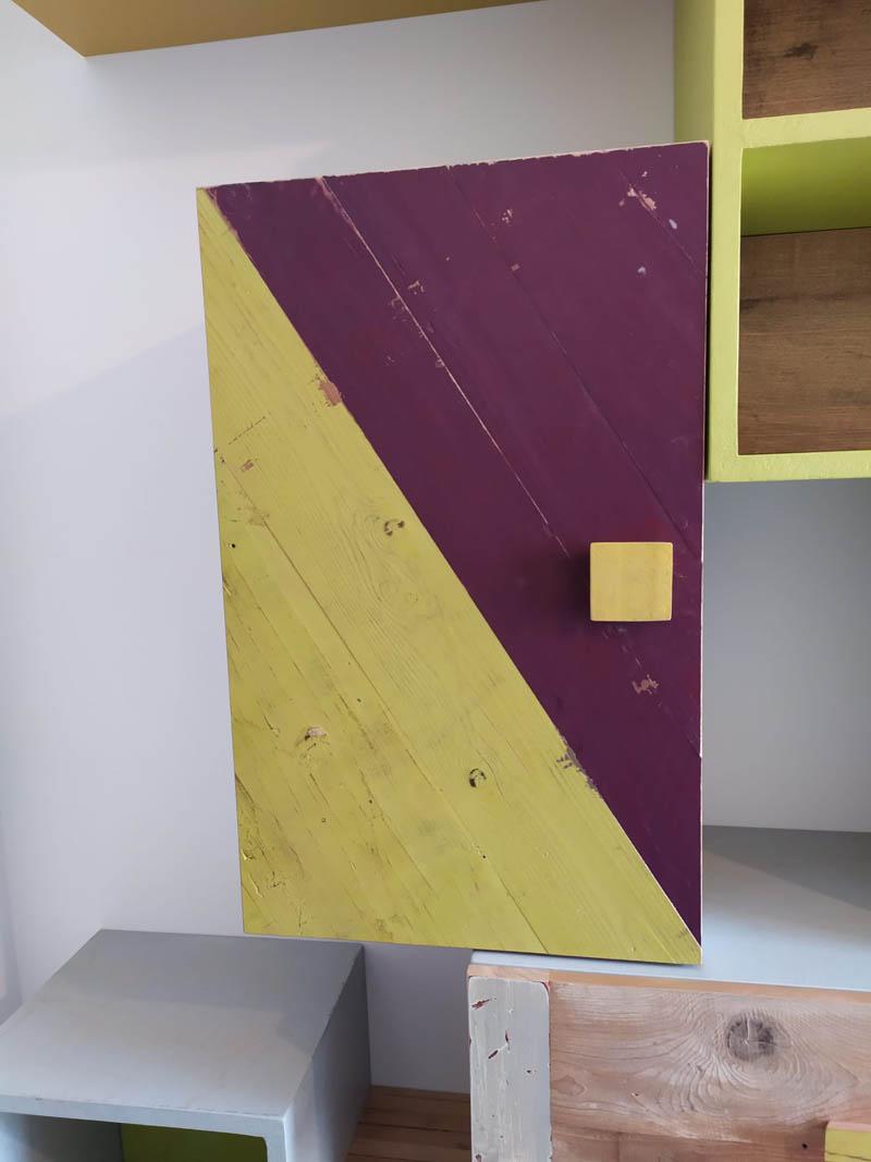 parete attrezzata per lo studio