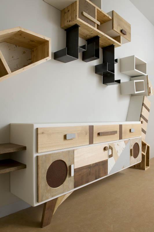pareti attrezzate design moderno