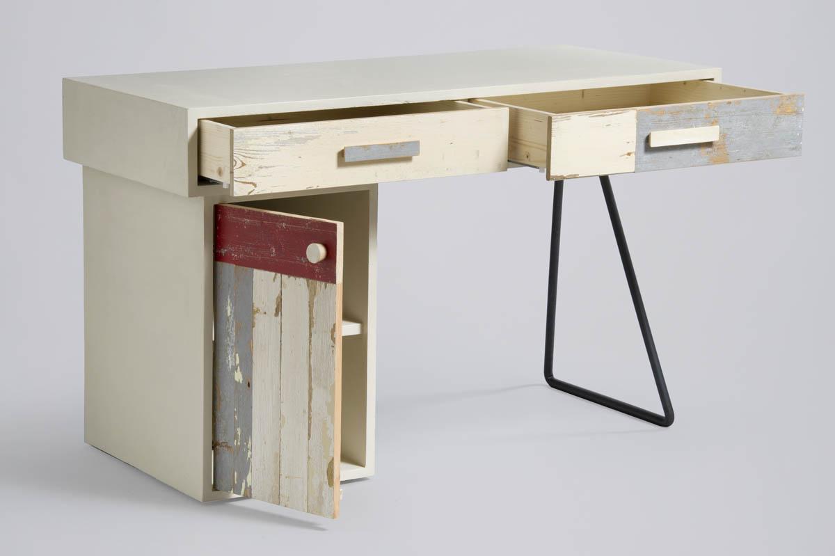 scrivania su misura ferro e legno