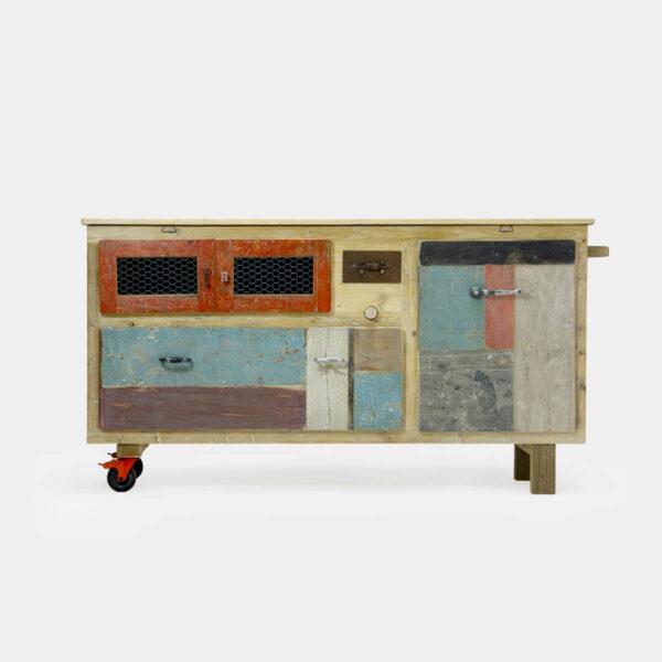 Madia moderna contemporanea in legno per la pasta
