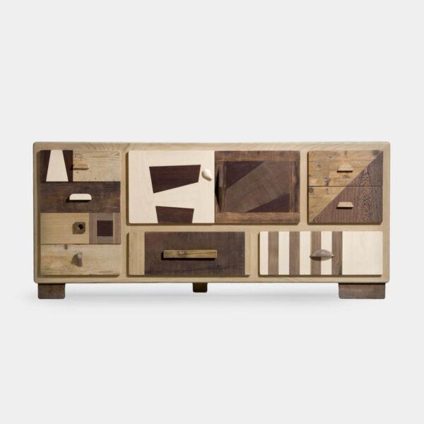 Madia moderna in legno massello